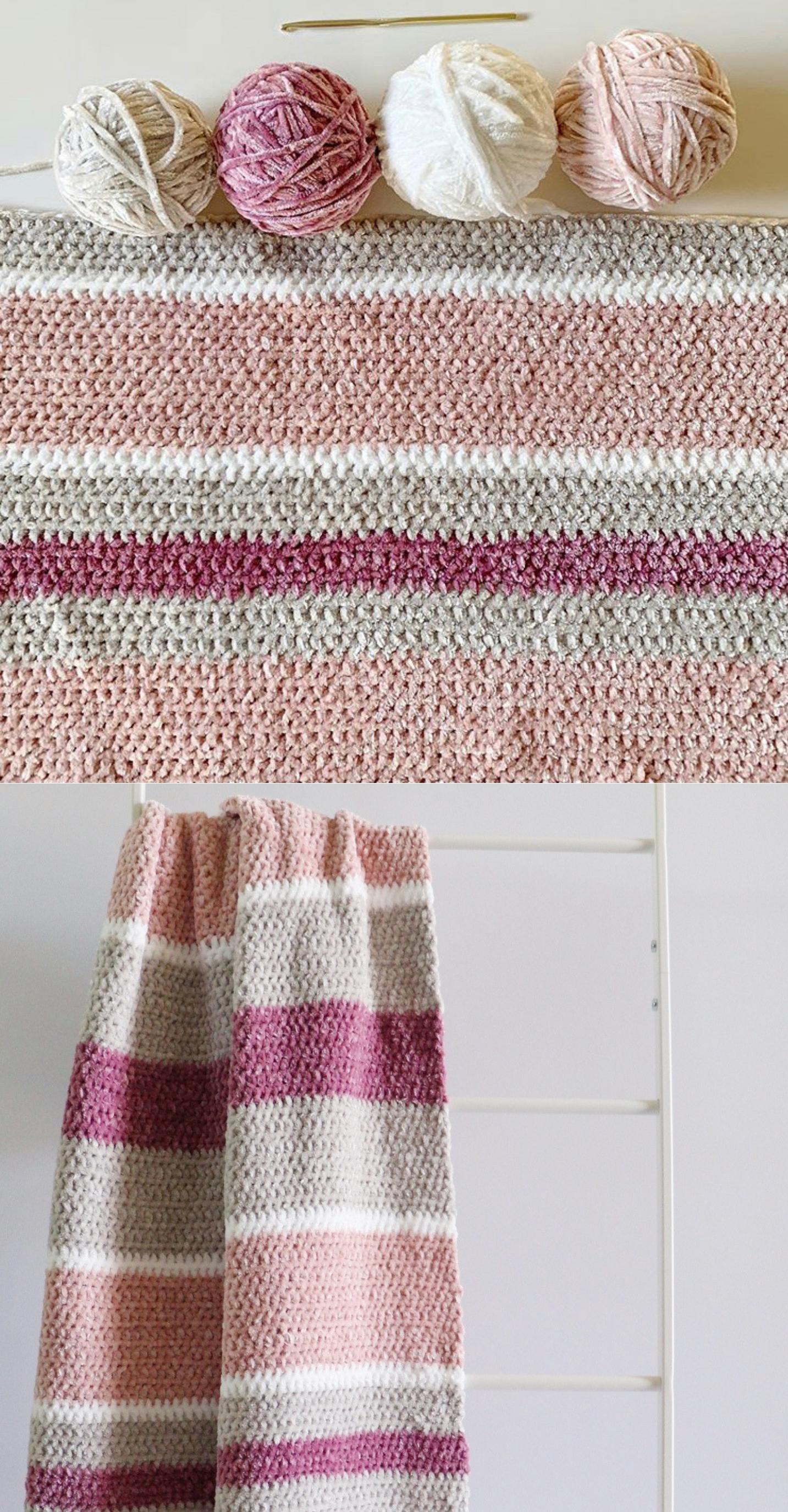 Free Pattern - Crochet Velvet Beginner Blanket