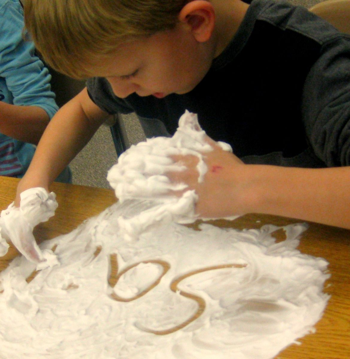 Put shaving cream on student's desks to have them practice their spelling words in.