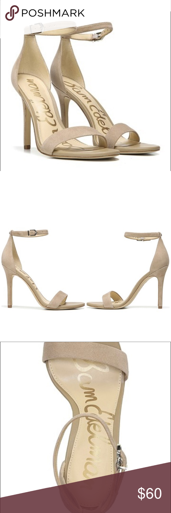 1a1272df7b425 Sam Edelman Amee Ankle Strap Suede Heel Sandal The Sam Edelman Amee shoe is  the perfect staple heel to match almost all outfits!