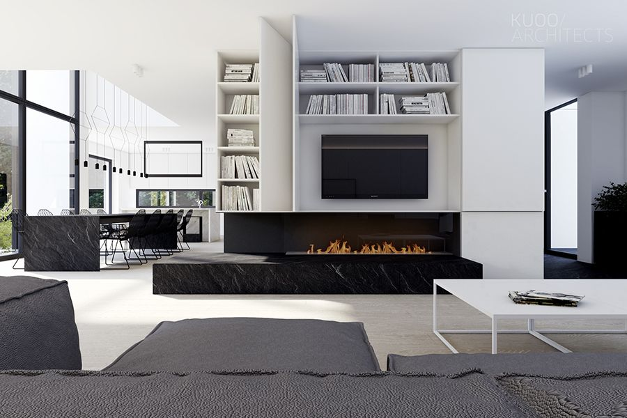 Modern Architectural Fireplaces there is a distinct luxury in simplicity. this luxembourg house