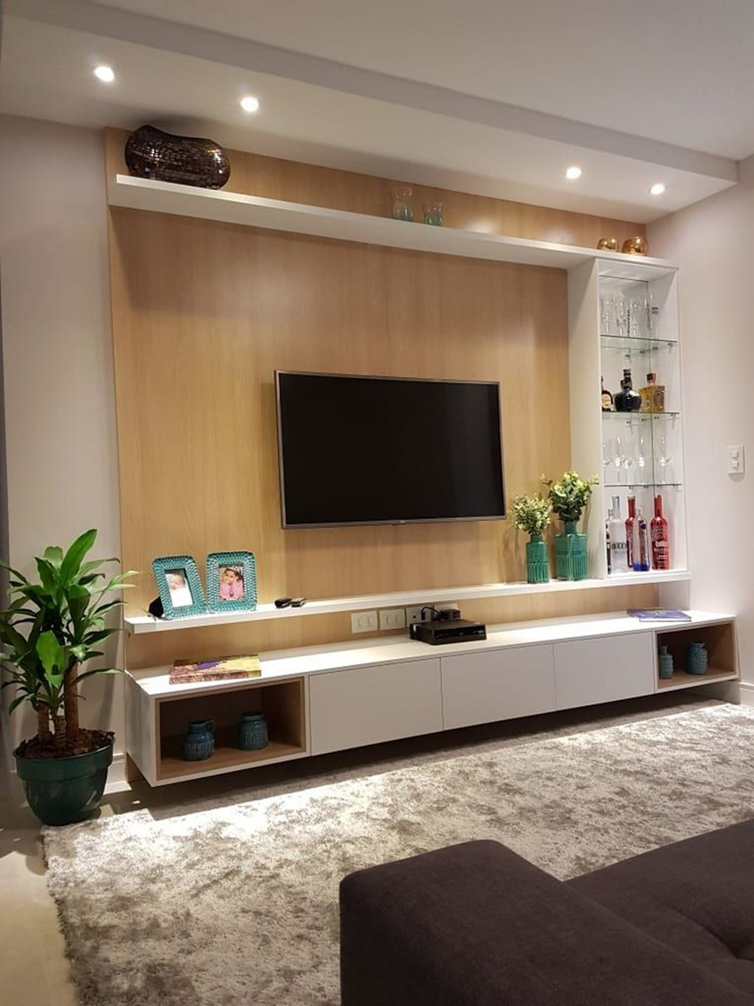 46 Best Ways To Decorate Around The Tv On Your Living Room Par