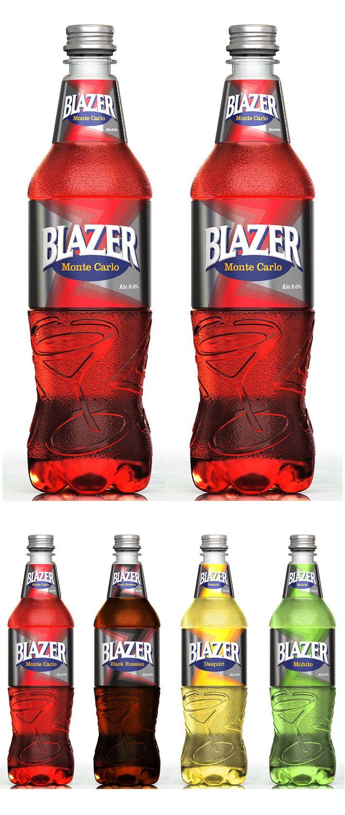 Packaging Design For Blazer Cocktail Re Design The Labels Redizajn Etiketki Koktejlya Blazer Etiketki