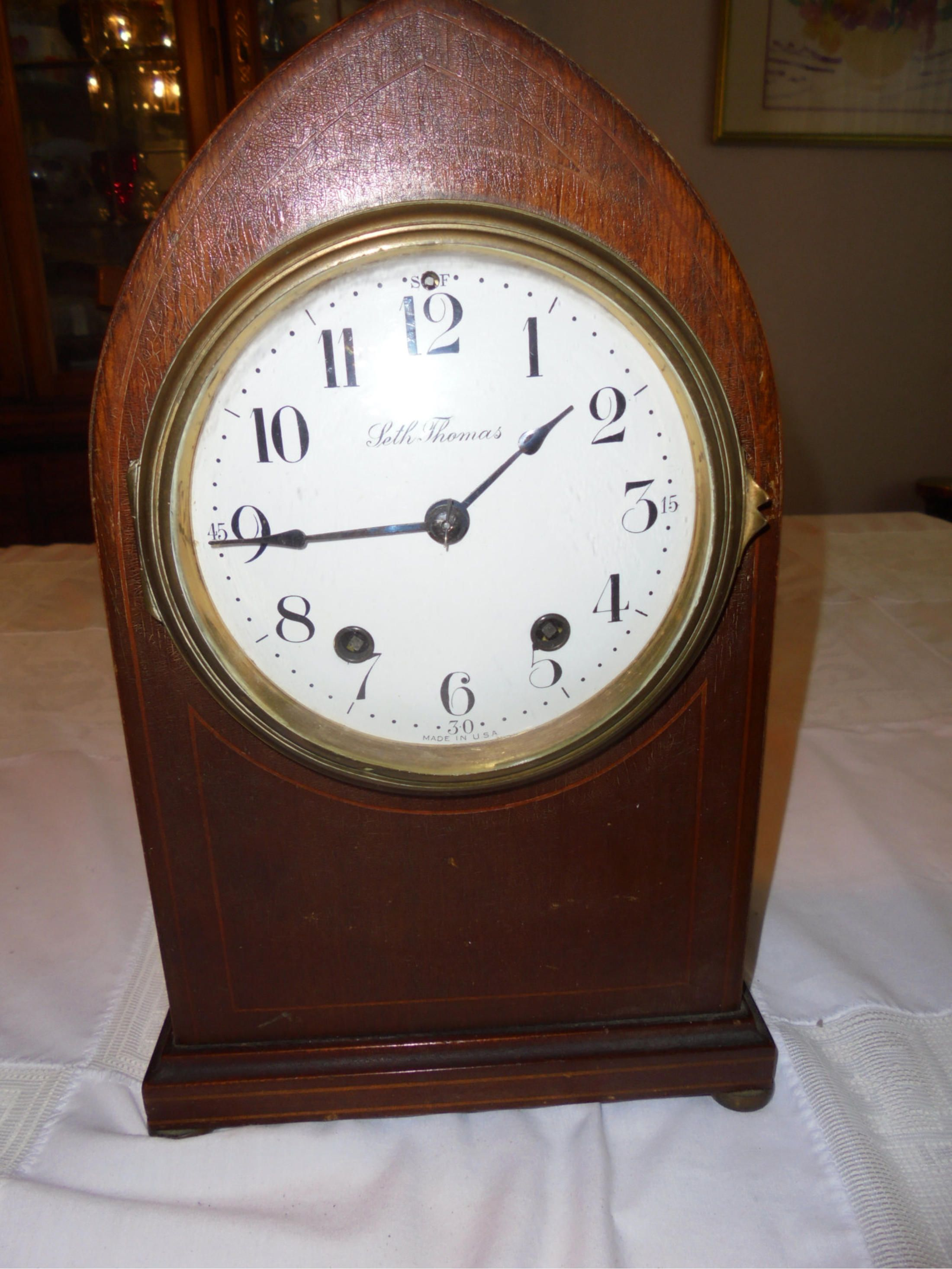 Seth thomas gothic mantle clock