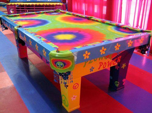 Living Color  Tie Dye Pool Table