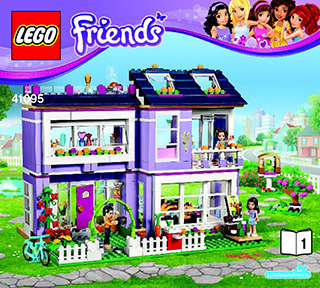 Emmas House 41095 Lego Friends Building Instructions Legocom
