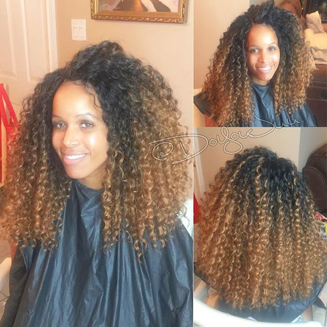 Love The Color With Images Curly Crochet Hair Styles Crochet