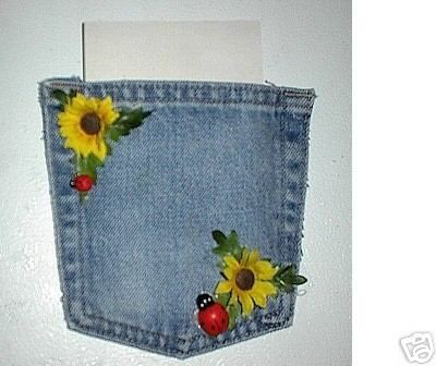 Denim pocket magnets craft ideas pinterest for Denim craft projects