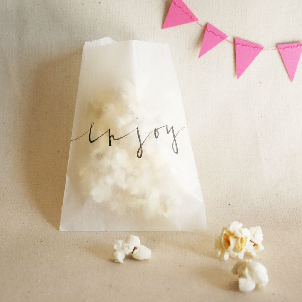 Glassine Favor Bags with Custom Calligraphy | Favor bags ...