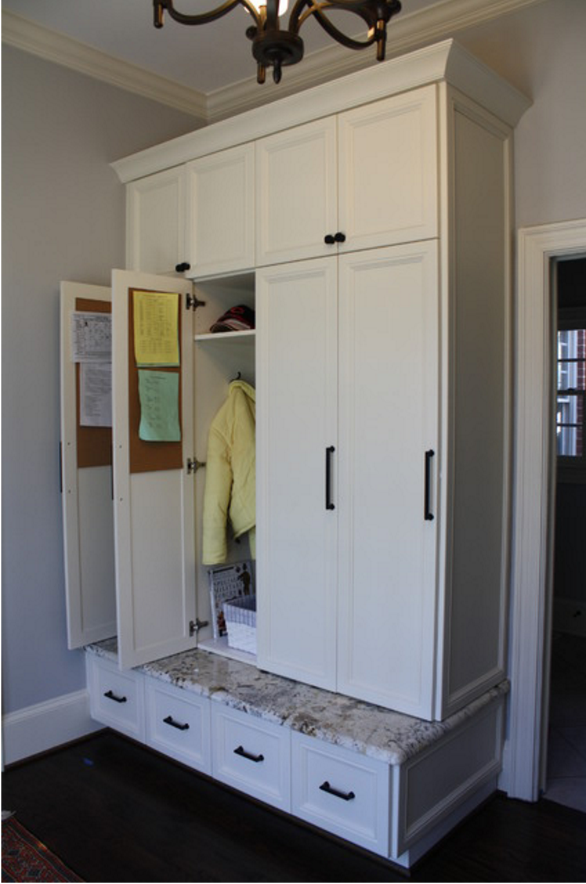 Mudroom Storage Cabinets : Mudroom lockers with doors pinterest front