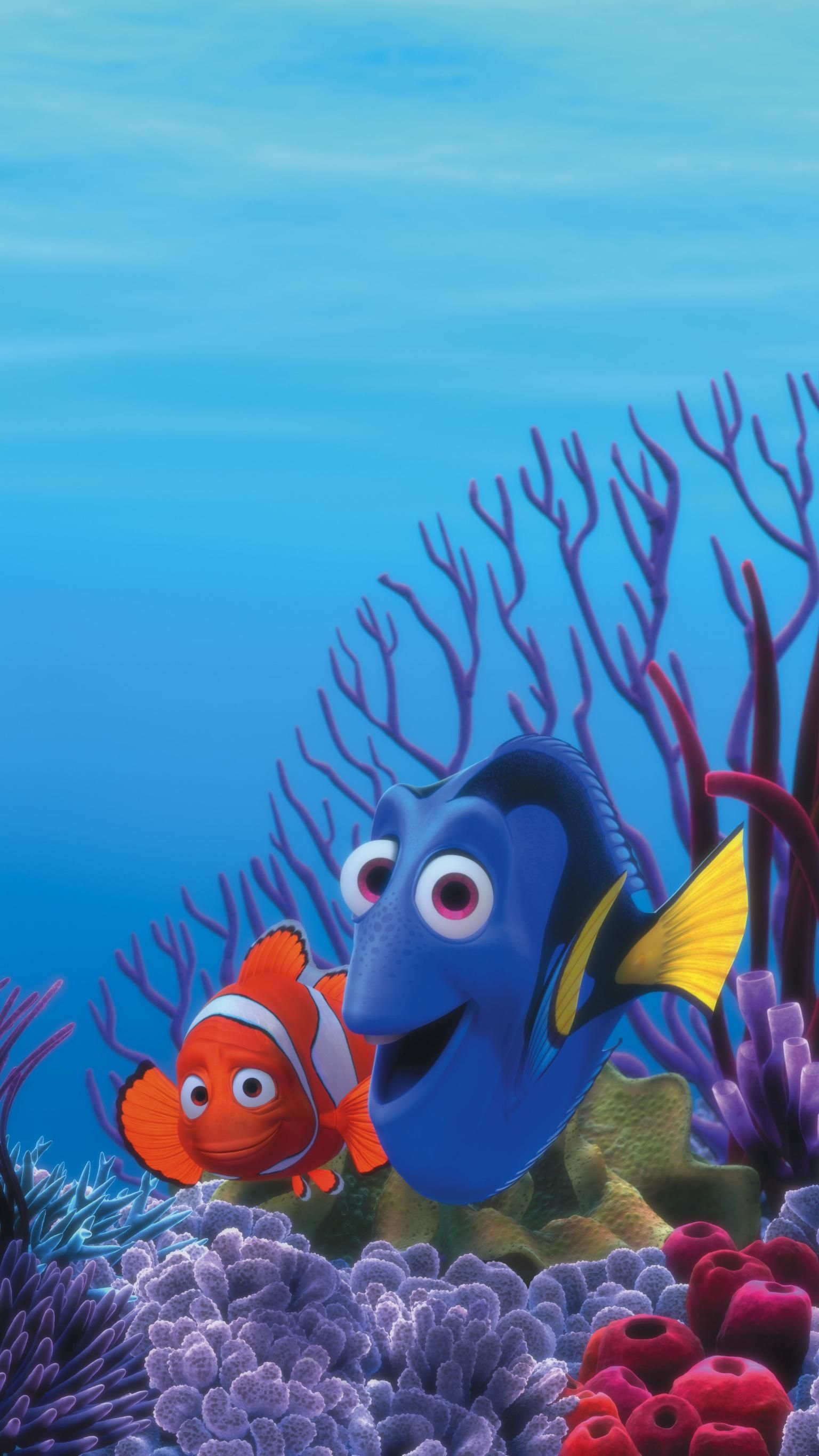 Finding Nemo 2003 Phone Wallpaper Moviemania Disney Wallpaper Disney Finding Nemo Cute Disney Wallpaper