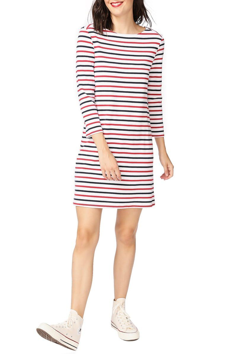 Add Vibrant Stripes To Casual Days In A Cotton Kissed Knit Dress That S Ready For Weekend Fun Striped Knit Dress Clothes Striped Knit [ 1196 x 780 Pixel ]