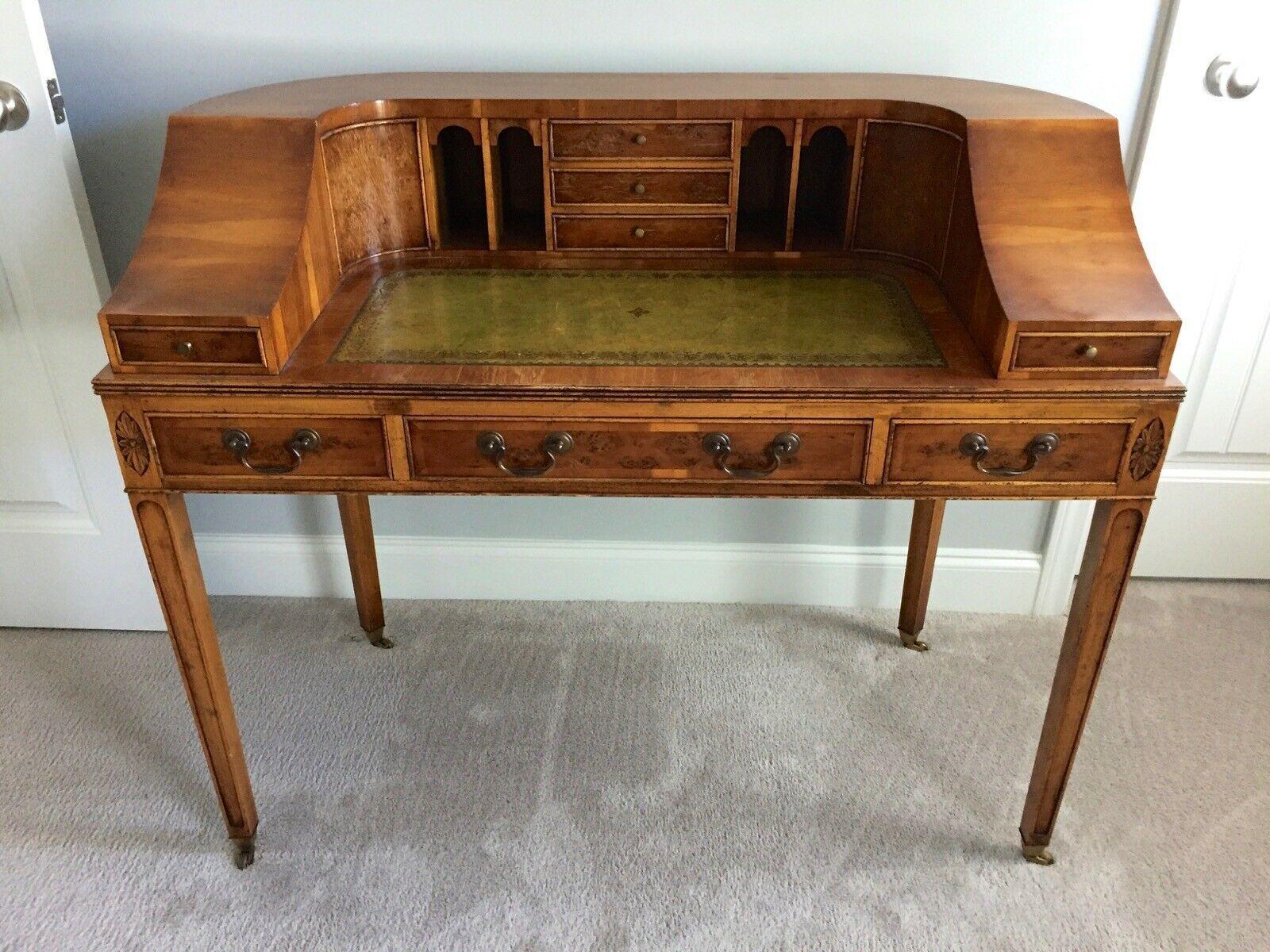 Federal Style Carlton Type Vintage Writing Desk Vintage Writing Desk Rustic Writing Desk Vintage Writing
