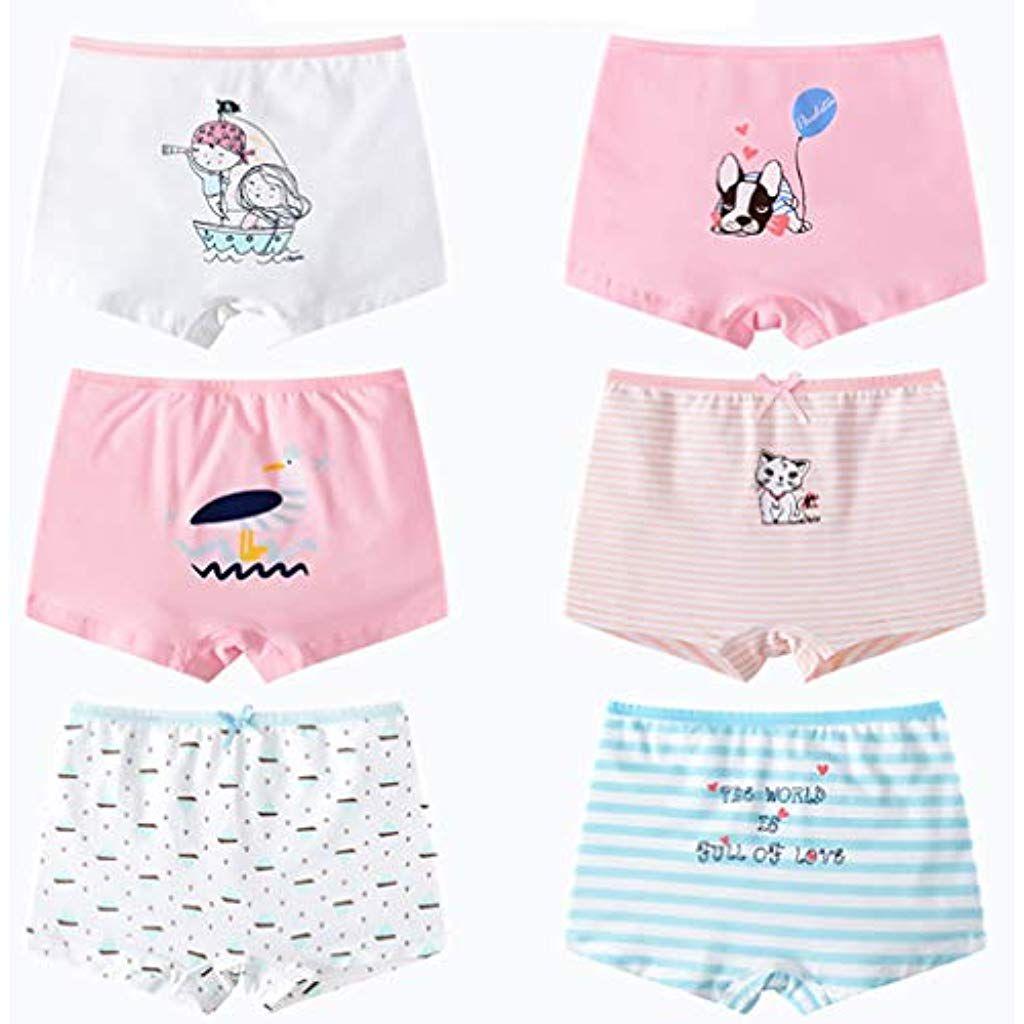 Mädchen Slips 10er Pack Unterwäsche Unterhosen Kinder Mehrfarbig 4113
