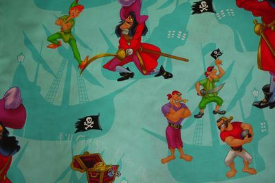 Peter Pan Pirates Fabric - (PPPF080512)