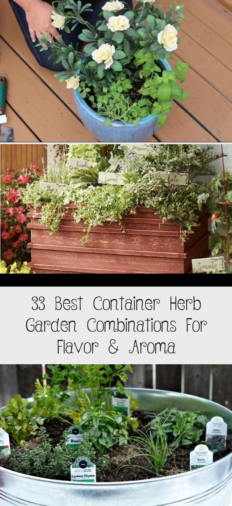 33 Best Container Herb Garden Combinations For Flavor Aroma Container Herb Garden Outdoor Herb Garden Herb Garden Pots