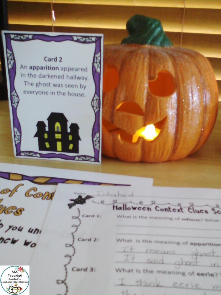 Halloween Context Clues Scavenger Hunt Context clues