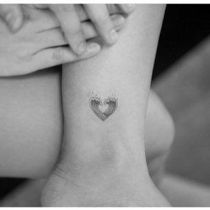 Small Waves Heart Tattoo
