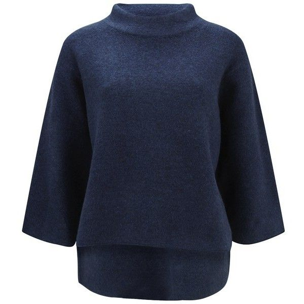 Tibi Women's Kasa Woolen Cape Pullover Sweater - Navy ($565 ...