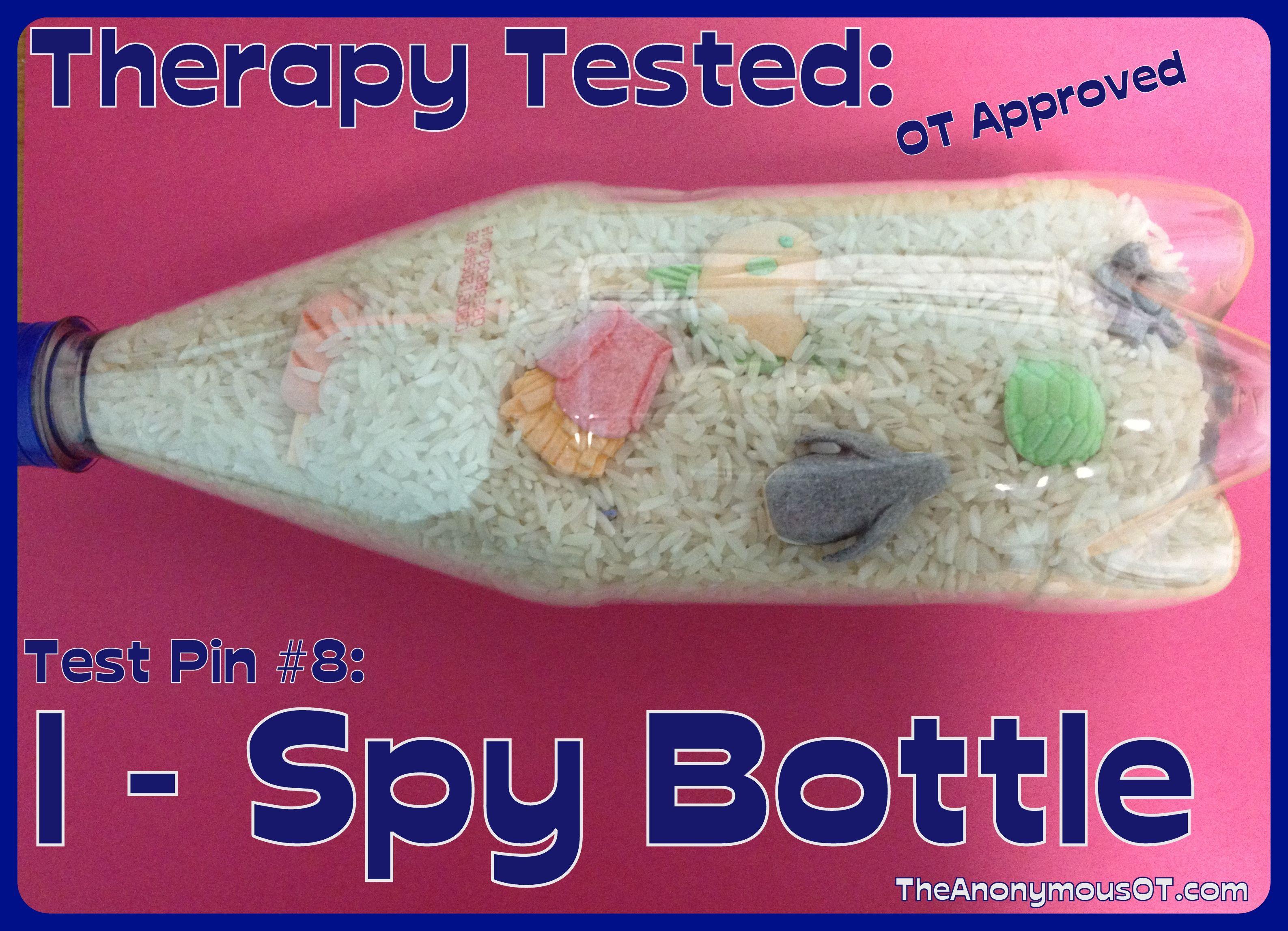 I Spy Bottle For Visual Perception