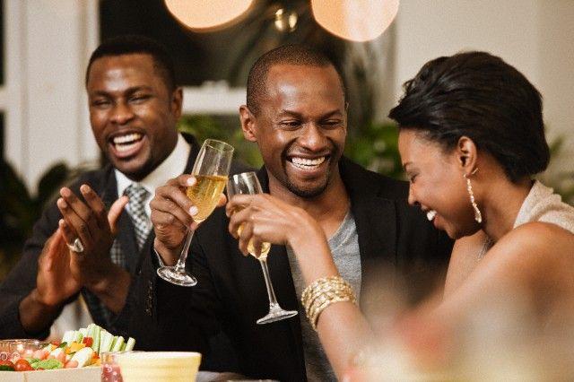 Black men have fun
