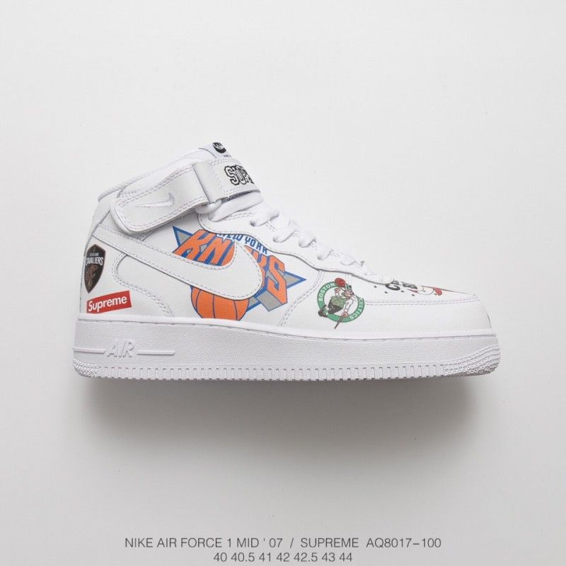 Fsr Nike Air Force Supreme Nba Af1 Limited Edition Black And White ...