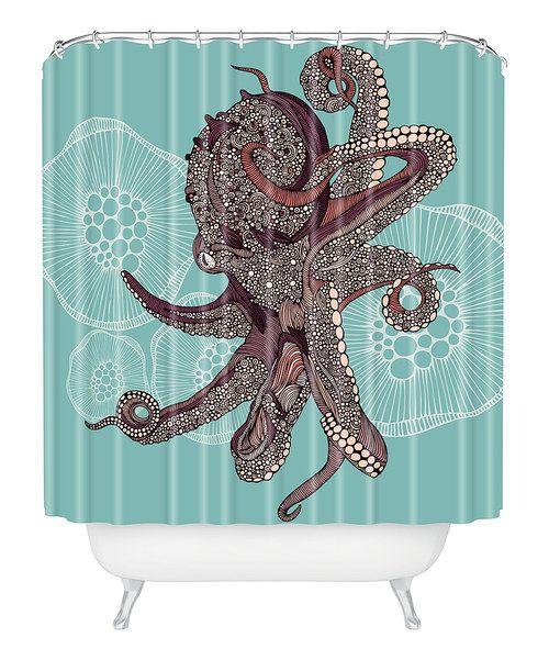 Octopus Bloom Shower Curtain Zulily Octopus Shower Curtains