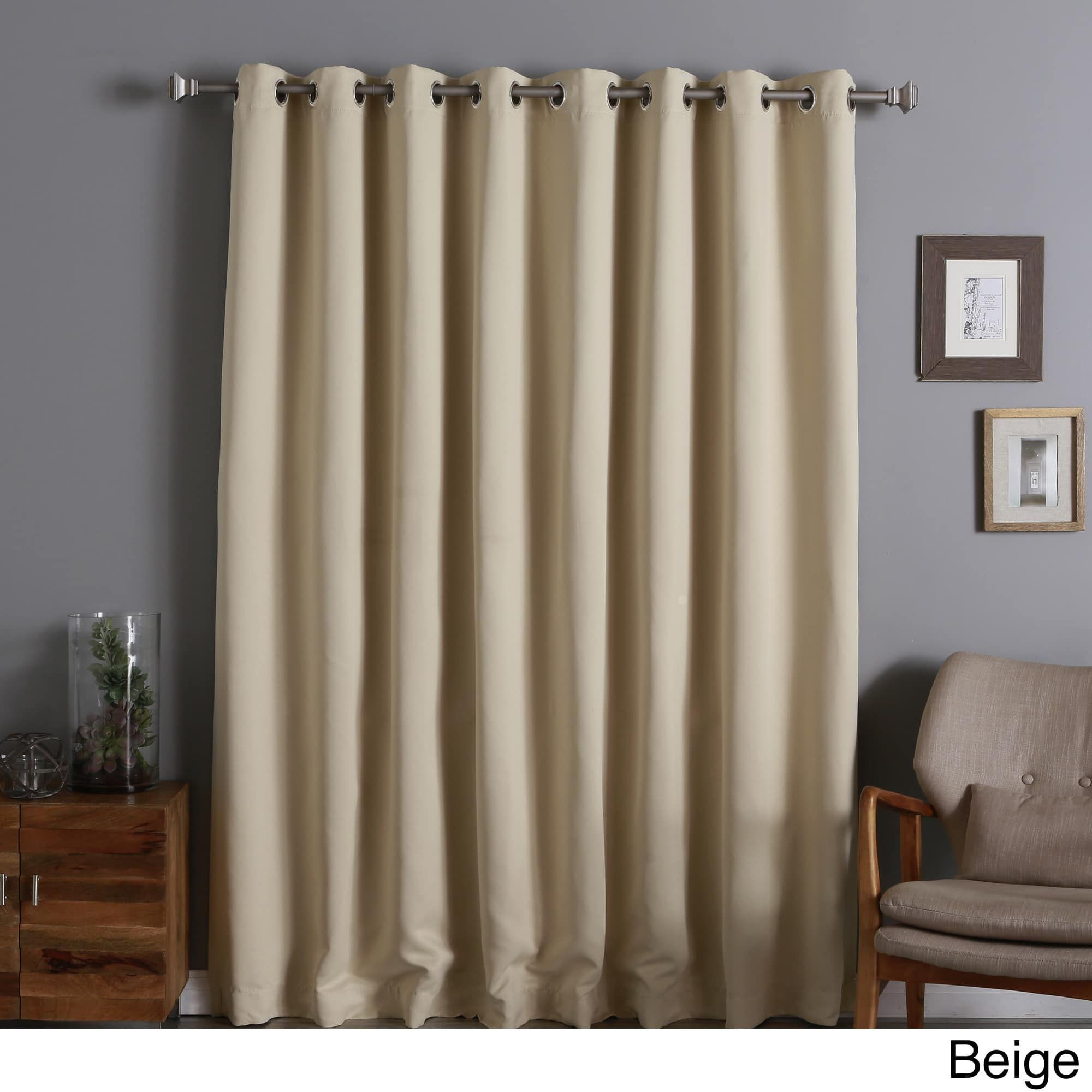 Aurora Home Extra Wide Thermal Insulated 96 Inch Blackout Curtain