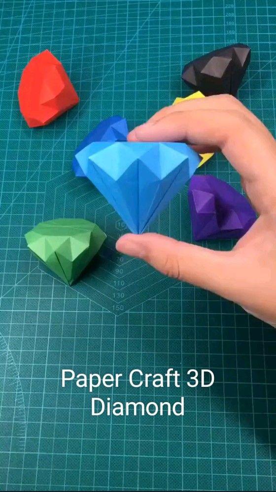 Paper Craft 3D Diamond