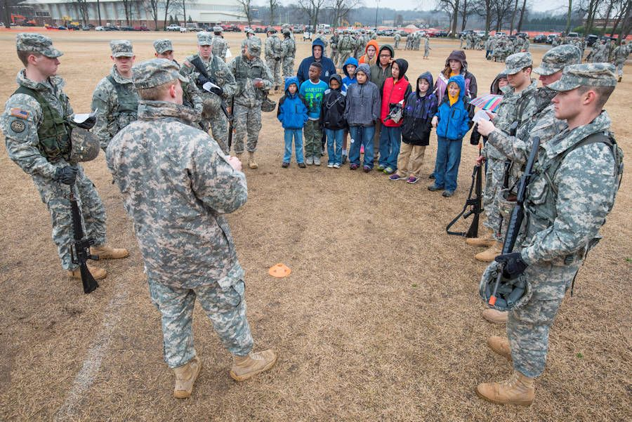 March 13 2016 clemson rotc cadets intructing boy scouts