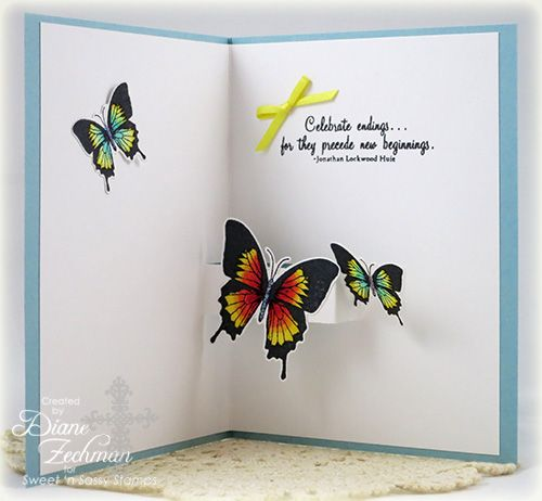 Butterfly Pop Up Inside Paper Pop Kirigami Tutorial Accordion Cards