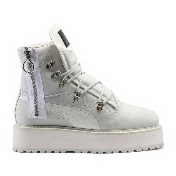 free shipping affe8 d6fe8 Puma SNEAKER BOOT WHITE (£260) ❤ liked on Polyvore ...