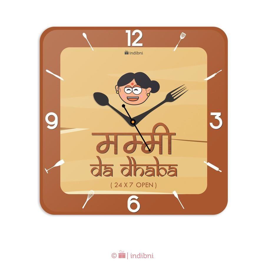 Mummy Da Dhabha Wall Clock | Home Decor Items | Pinterest | Wall ...