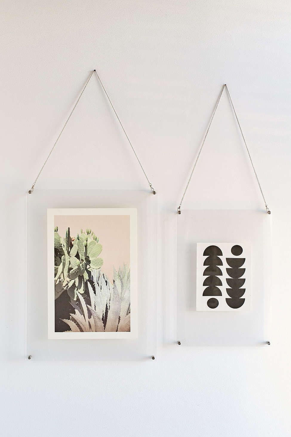 Rahmenlose Bilderrahmen Acrylic Hanging Display Frame Office Glam Vidrio Casitas Diy