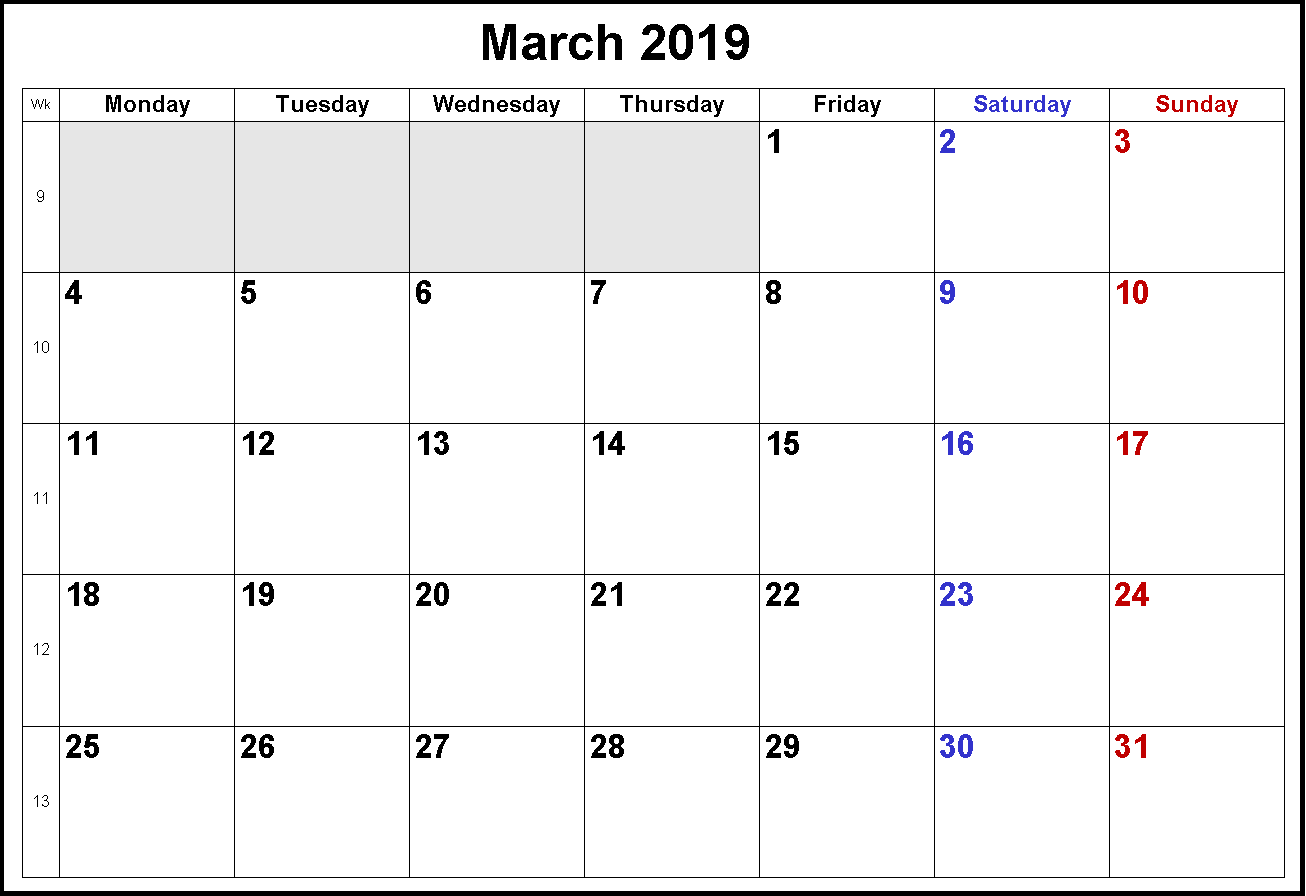 holidays in march 2019 monthly calendar templates pinterest