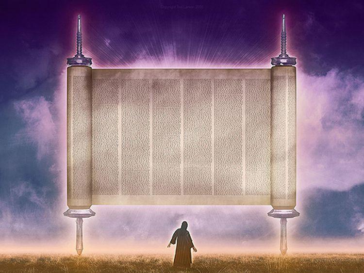 vision 6 of 8) of Zechariah--The Flying Scroll (Zechariah 5:1-4 ...