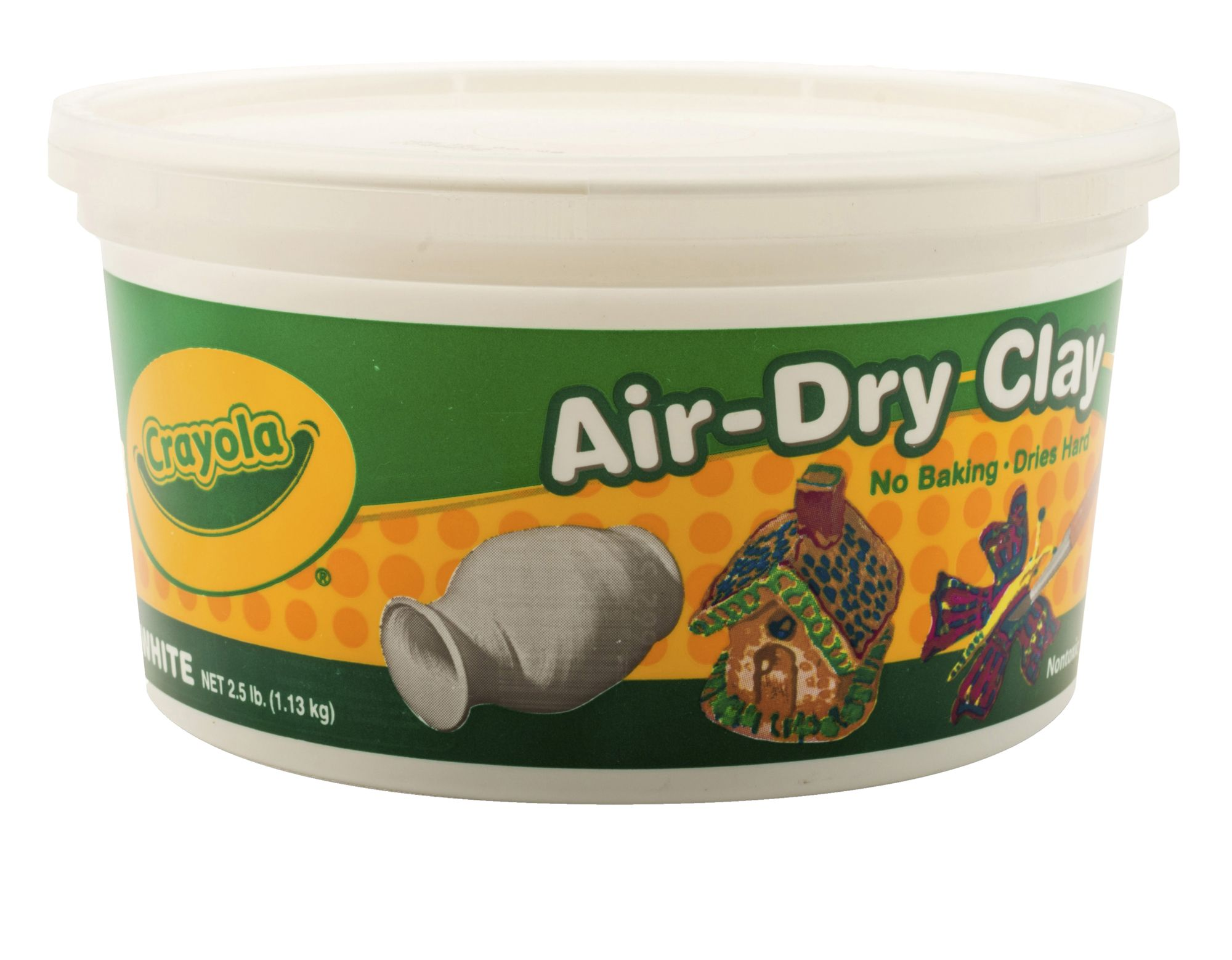 Crayola Air-Dry Clay, White, 2.5 Lb Resealable Bucket ...