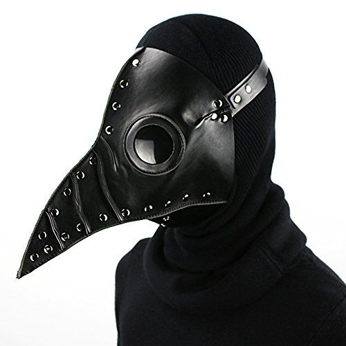 PLAGUE DOCTOR MASK BLACK//WHITE HALLOWEEN COSPLAY TERROR BIRD CROW MASK