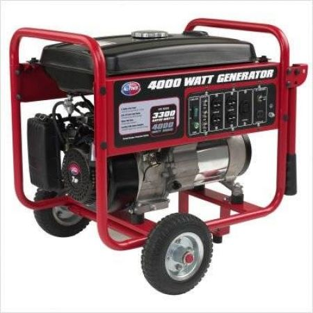 All Power 4000 Watt Gasoline Generator With Battery Wheel Kit Our