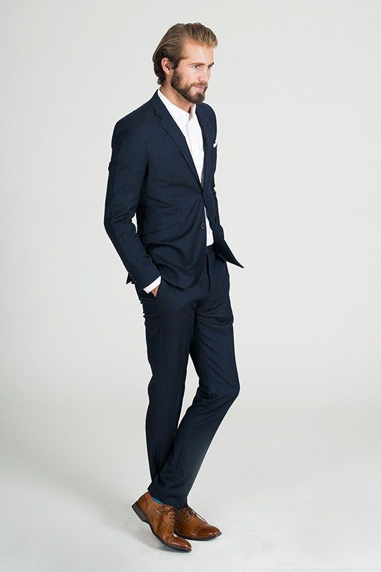 The Barker Navy Texture Suit - Barkers