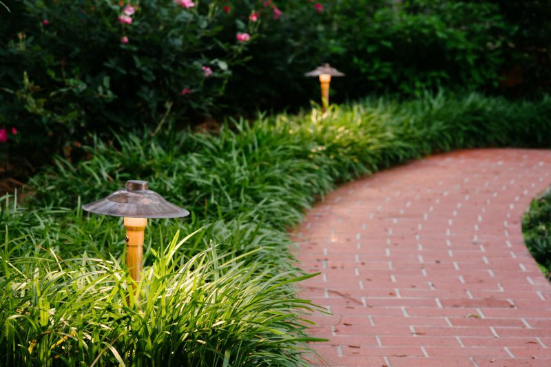 Traditional And Classic In Design The Copper Path Lights Seen
