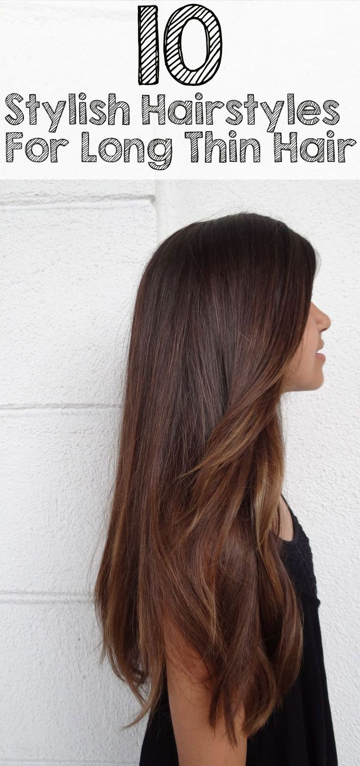 Hairstyles For Long Thin Hair Adorable 20 Terrific Hairstyles For Long Thin Hair  Long Thin Hair Stylish