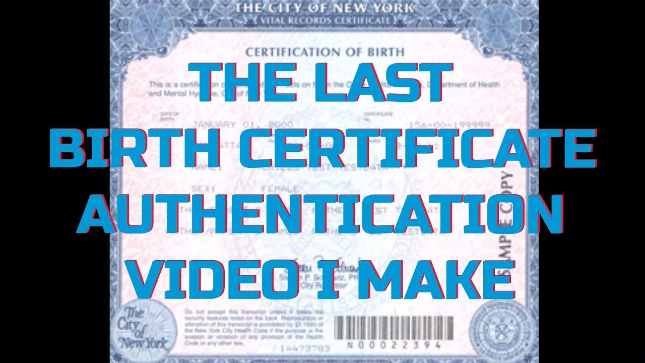 Birth certificate authentication video the last one ill do birth certificate authentication video the last one ill do aiddatafo Gallery