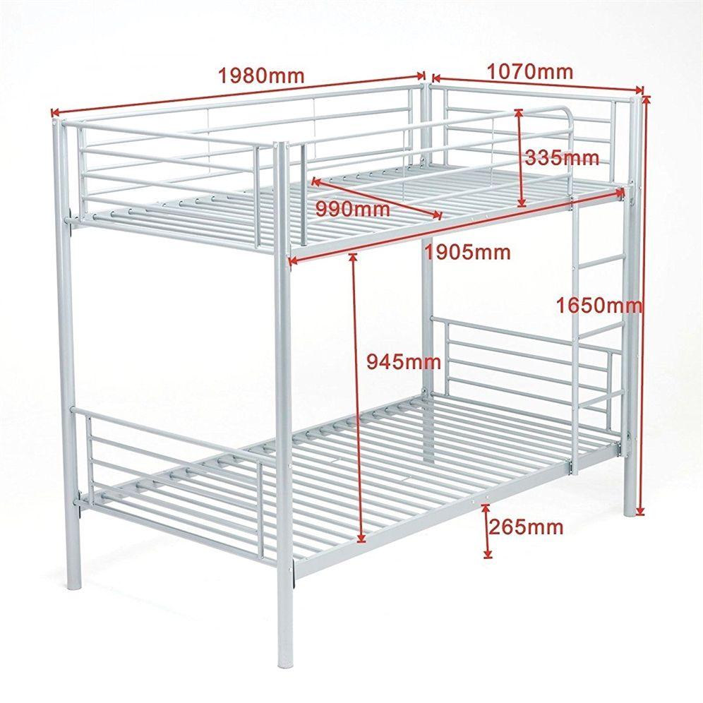 Loft bed railing ideas  Metal Bunk Beds Frame ChildrensBedroomFurniture  child room