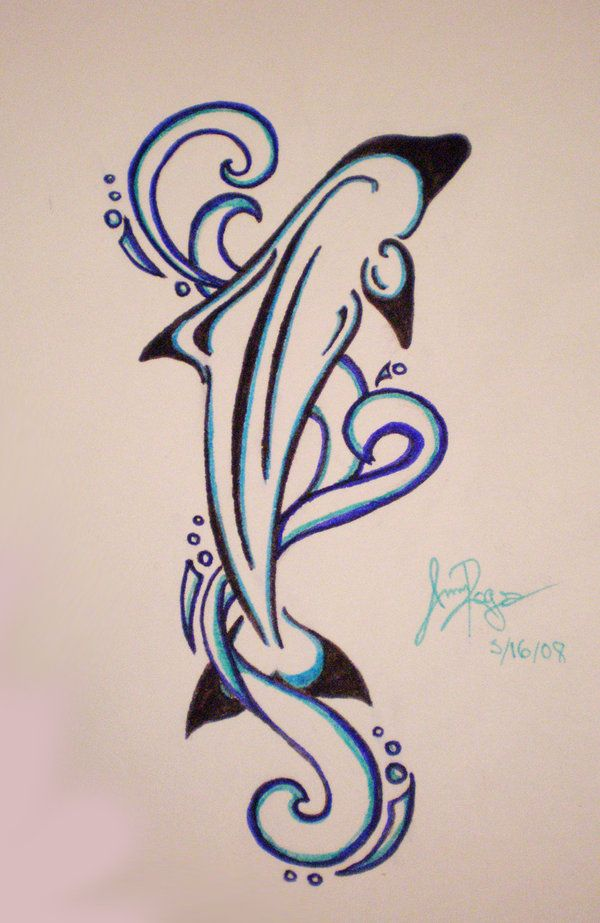 Mom's Dolphin Tattoo 2 by ~RuneElf on deviantART