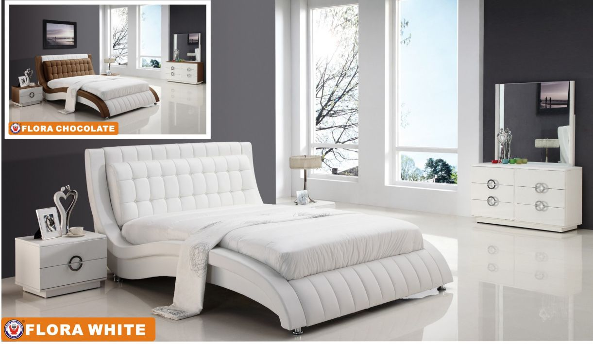 White Leather Bedroom Furniture Interior Design Color Schemes Check More At Http Www Magic009