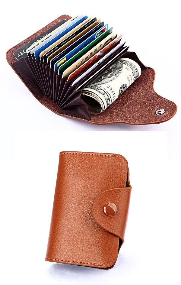 US$16.91 + Free shipping.Genuine Leather Card Holder, Casual Wallet, men's wallet, men's leather wallet. Material: Cowhide. Color: Blue,Black,Coffee,Rose,Purple,Khaki.