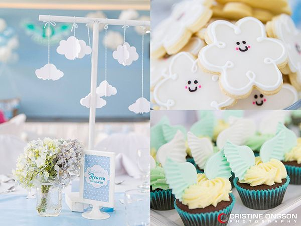 heaven and angel themed party angel baby shower baby birthday themed