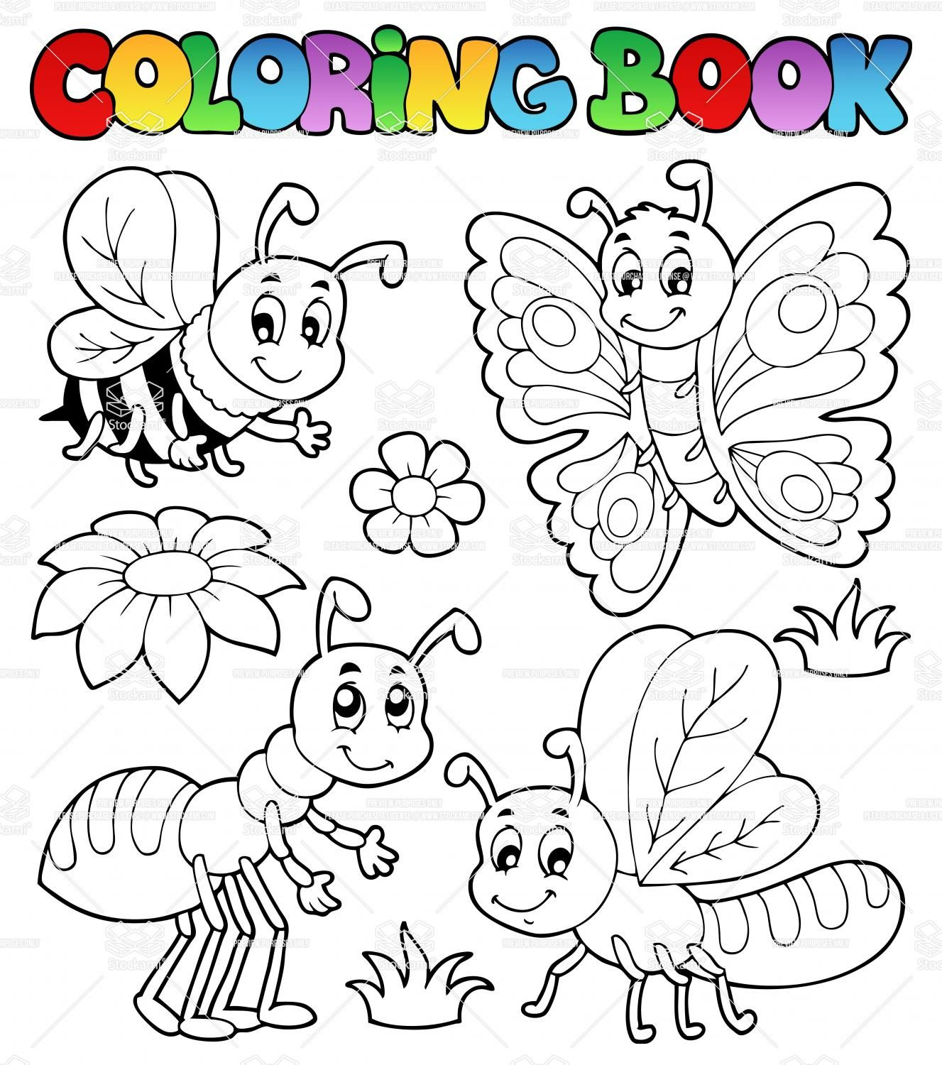 Cute Insect Coloring Pages Insect Coloring Pages Butterfly Coloring Page Bug Coloring Pages