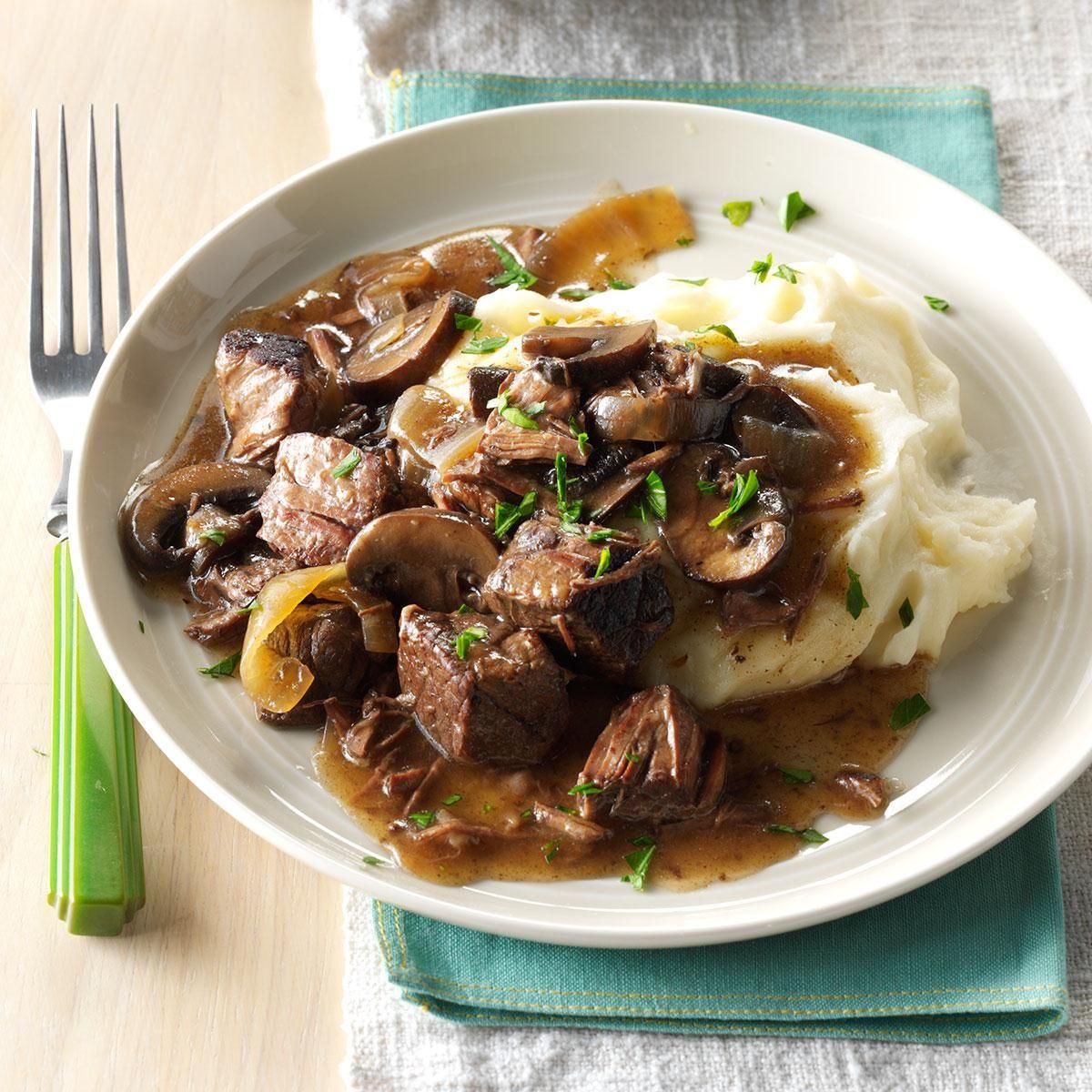 Slow Cooker Beef Tips Recipe Slow Cooker Beef Beef Tip Recipes Cooker Recipes