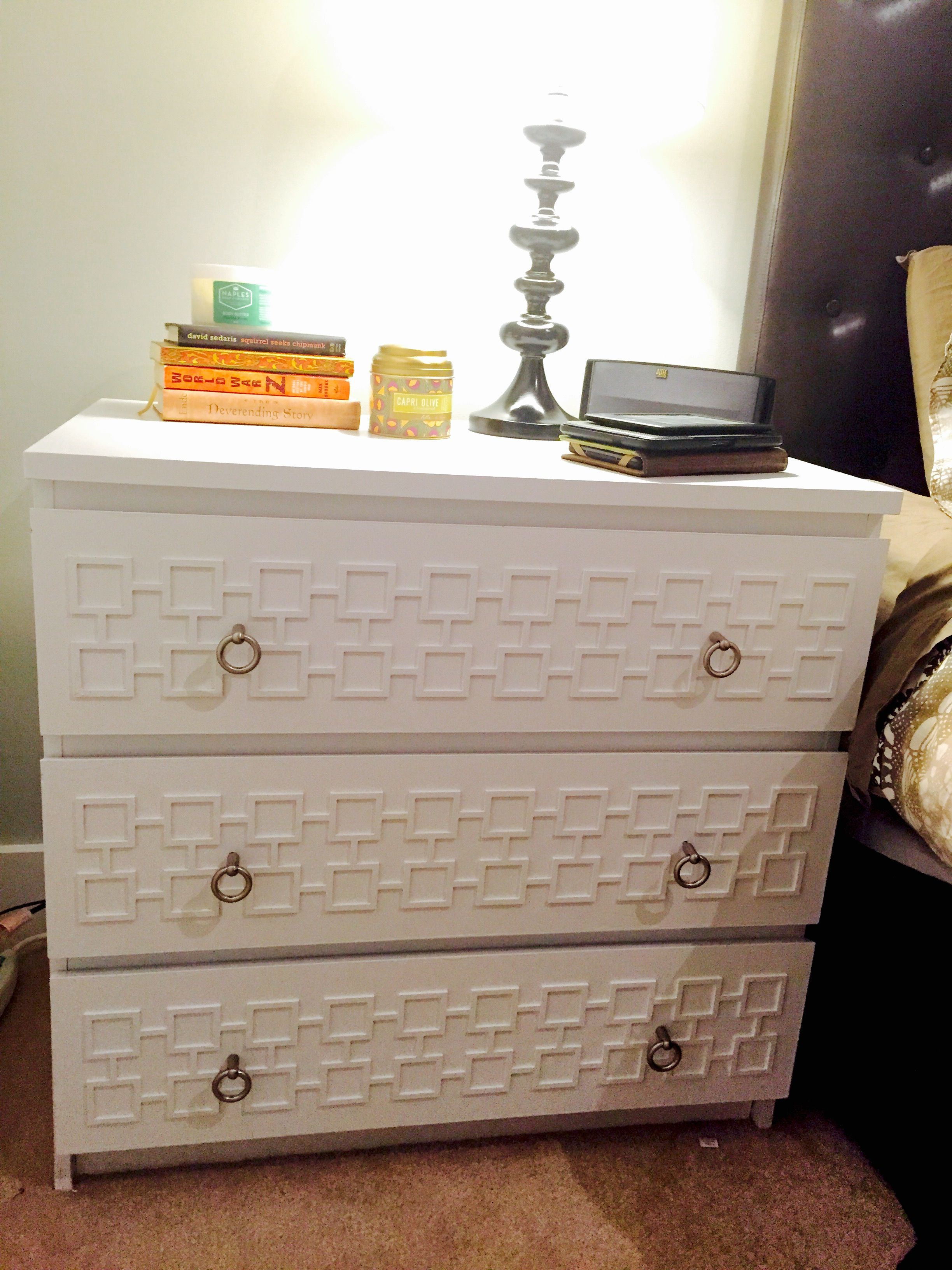 my ikea malm dresser hack with harper pattern o 39 verlays my o 39 verlays customers projects. Black Bedroom Furniture Sets. Home Design Ideas